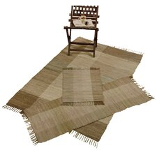 Check Chindi Beige 3 Piece Accent Rug Set