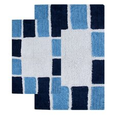Mosaic Tiles 2 Piece Bath Rug Set
