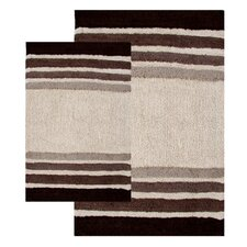 <strong>Chesapeake Merchandising Inc.</strong> Tuxedo Stripe 2 Piece Bath Rug Set