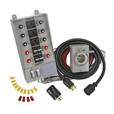 Pro / Tran 30 Amp 10 Circuit Manual Transfer Switch Kit