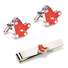 MLB Cufflinks and Tie Bar Gift Set