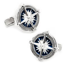 Sterling Silver Nautical Compass Cufflinks