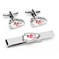 NFL Cufflinks & Tie Bar Gift Set