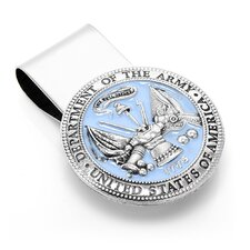 <strong>Cufflinks Inc.</strong> Pewter U.S. Army Money Clip