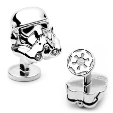 Star Wars Palladium 3-D Storm Trooper Head Cufflinks