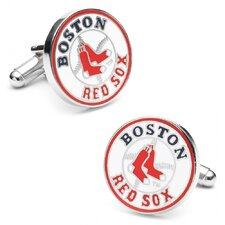 MLB Rhodium Plated Cufflinks