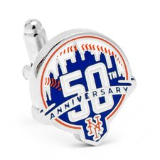 MLB New York Mets 50th Anniversary Cufflinks
