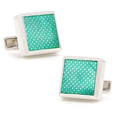 Sterling Silver Mother of Pearl Etched Cufflinks