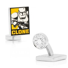 Star Wars Rhodium Plated Clone Trooper Pop Art Cufflinks