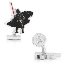 Star Wars Rhodium Plated Darth Vader Action Cufflinks