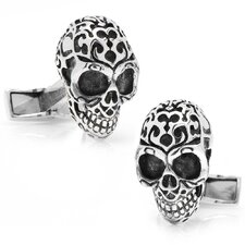 <strong>Cufflinks Inc.</strong> Sterling Silver Fatale Skull Cufflinks