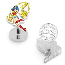 <strong>Cufflinks Inc.</strong> DC Comics Silver Plated Wonder Woman Cufflinks