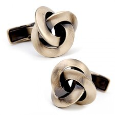 Gold Plated Antique Knot Cufflinks