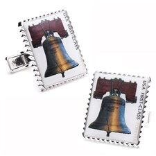 "Liberty Bell ""Forever"" Stamp Cufflinks"