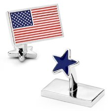 Palladium USA Flag and Star Cufflinks