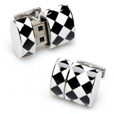 Diamond Oval USB Cufflinks