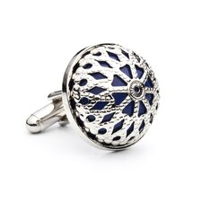 Lapis Dome Cufflinks