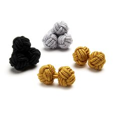 Knot Cufflinks in Formal Silk
