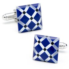MOP Diamond Pattern Cufflinks