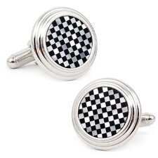 Checker Step Cufflinks