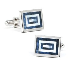 Sodalite and MOP Maze Cufflinks