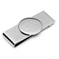 Engravable Round Infinity Money Clip