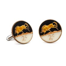 Hand Painted South Africa Coin Cufflinks