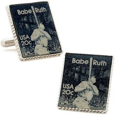 Babe Ruth Stamp Cufflinks