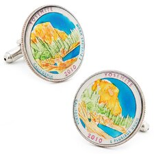 Hand Painted Yosemite National Park Quarter Cufflinks