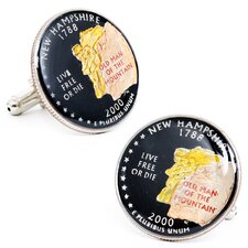 Hand Painted New Hampshire State Quarter Cufflinks