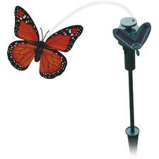 Solar Powered Fluttering Butterfly Lighted Garden Stake