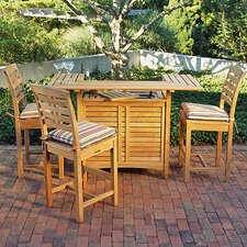 <strong>Kingsley Bate</strong> Mandalay 4 Piece Bar Height Dining Set