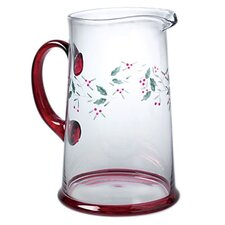<strong>Pfaltzgraff</strong> Winterberry Glass 2.5 Qt Water Pitcher