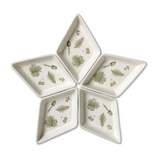 Naturewood Segmented Star Serving Tray (Set of 5)