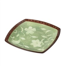 "Patio Garden 16"" Square Platter"