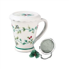 Winterberry 12 oz. Covered Mug