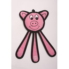 Dangles Pig Dog Toy in Pink