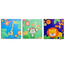 <strong>Nuby</strong> 3 Piece Boy's Jungle Canvas Print Set