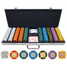 500 Piece Crown Casino Clay Poker Chips Set