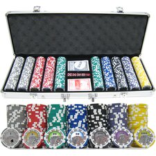 <strong>JP Commerce</strong> 500 Piece Casino Royale Clay Poker Chip Set