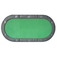 Padded Texas Hold'em Folding Poker Table Top with Cup Holders in Green