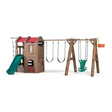 "<strong>Step2</strong> 88.5"" x 201"" Adventure Lodge Play Center Swing Set"