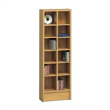 Double CD Multimedia 12-Shelf Storage Rack