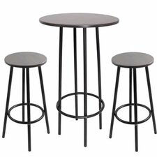 Zella 3 Piece Pub Table Set