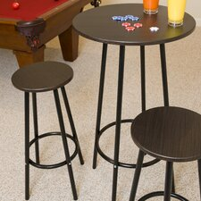 <strong>LumiSource</strong> Zella 3 Piece Pub Table Set