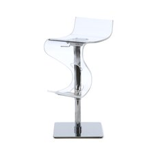 Curve Adjustable Height Bar Stool