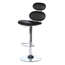 "Segment 22"" Adjustable Bar Stool with Cushion"
