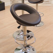 "24"" Adjustable Bar Stool with Cushion"