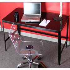 Pia Table / Writing Desk with Black Glass