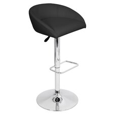 Zinger Adjustable Height Swivel Bar Stool